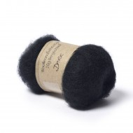 Carded Bergschaf Wool -Dark