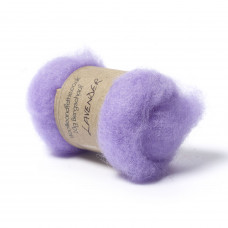 Carded Bergschaf Wool -Lavender