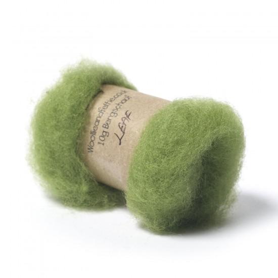 Carded Bergschaf Wool -Leaf