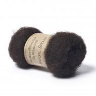Carded Bergschaf Wool -Natural Brown