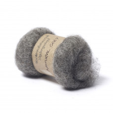 Carded Bergschaf Wool -Natural Grey