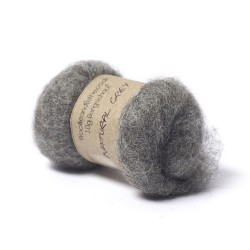 Carded Bergschaf Wool -Natural Grey