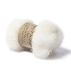Carded Bergschaf Wool -Natural White