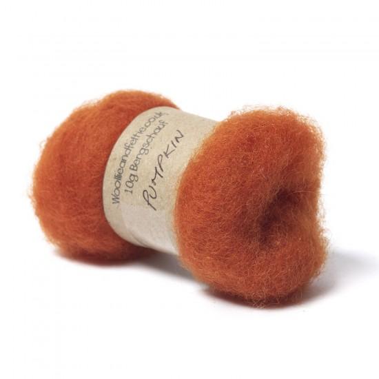 Carded Bergschaf Wool -Pumpkin