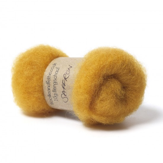 Carded Bergschaf Wool -Saffron