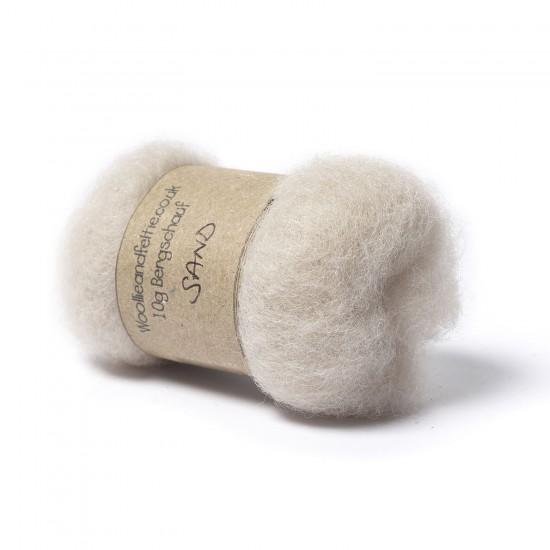 Carded Bergschaf Wool -Sand