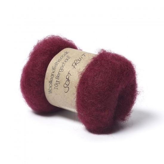 Carded Bergschaf Wool -Soft Fruit
