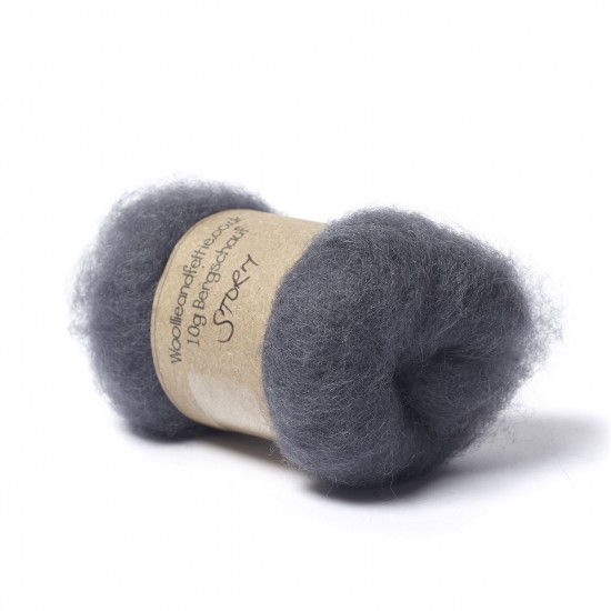 Carded Bergschaf Wool -Storm