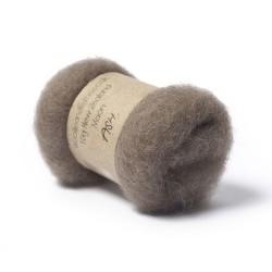 Carded New Zealand Maori Wool -Ash