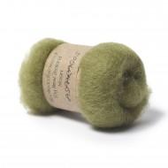 Carded New Zealand Maori Wool -Asparagus