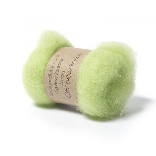 Carded New Zealand Maori Wool -Chlorophyll