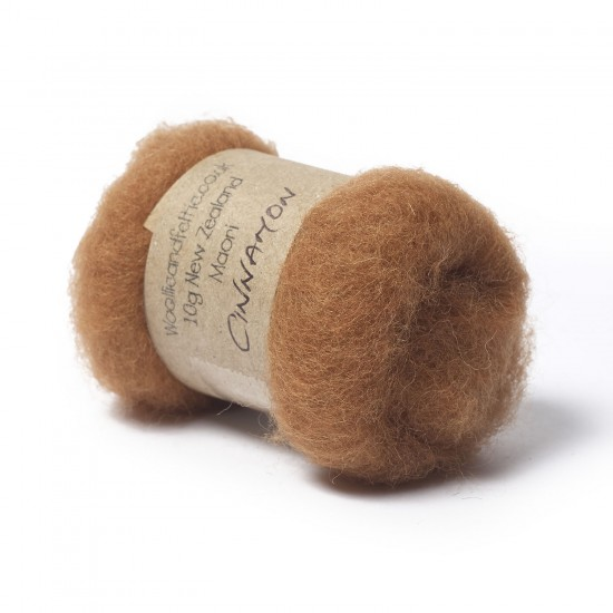 Carded New Zealand Maori Wool -Cinnamon