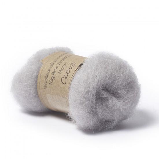 Carded New Zealand Maori Wool -Cloud
