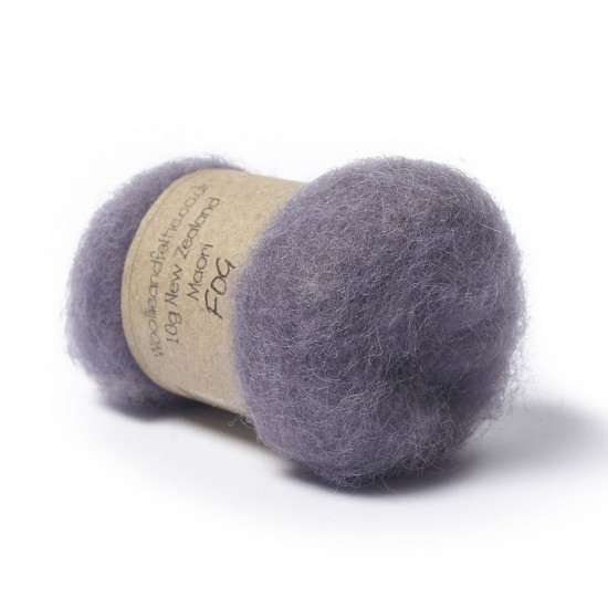Carded New Zealand Maori Wool -Fog