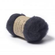 Carded New Zealand Maori Wool -Graphite