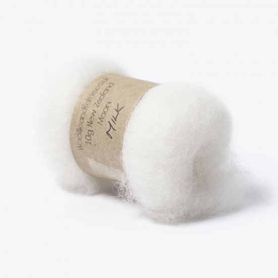 Carded New Zealand Maori Wool -Milk