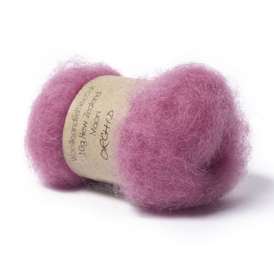 Carded New Zealand Maori Wool -Orchid