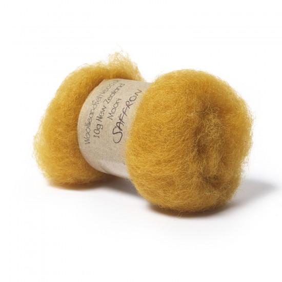 Carded New Zealand Maori Wool -Saffron