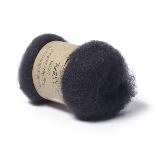 Carded New Zealand Maori Wool -Seal