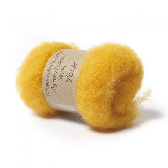 Carded New Zealand Maori Wool -Yolk