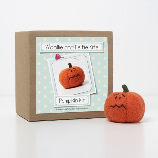 Percy Pumpkin needle felting kit