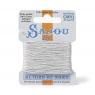 Sajou Retors Du Nord Cotton Embroidery Thread-2001 Grey