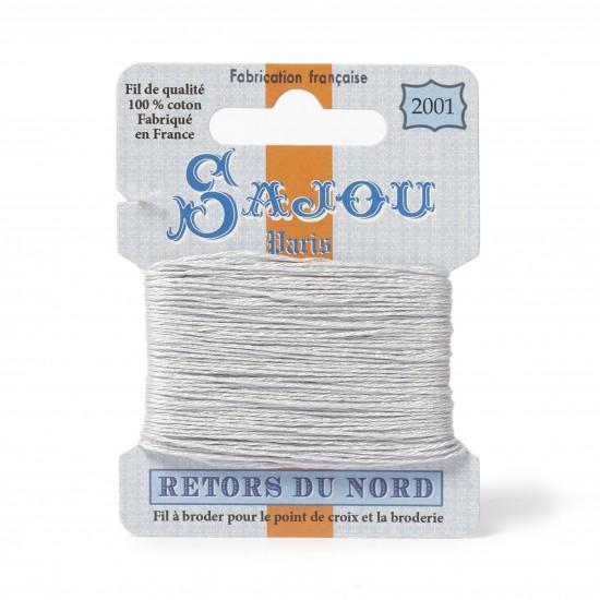 Sajou Retors Du Nord Cotton Embroidery Thread-2001 Grey
