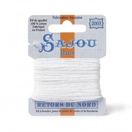 Sajou Retors Du Nord Cotton Embroidery Thread-2003 White