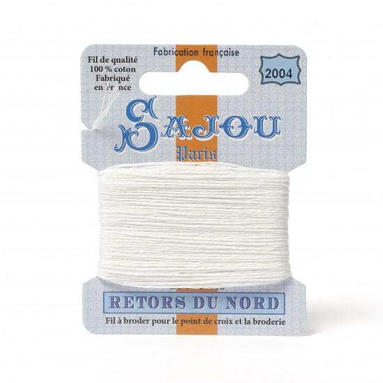 Sajou Retors Du Nord Cotton Embroidery Thread-2004 Off White