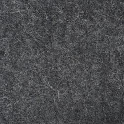"100% Wool 12"" Square-Light Charcoal"