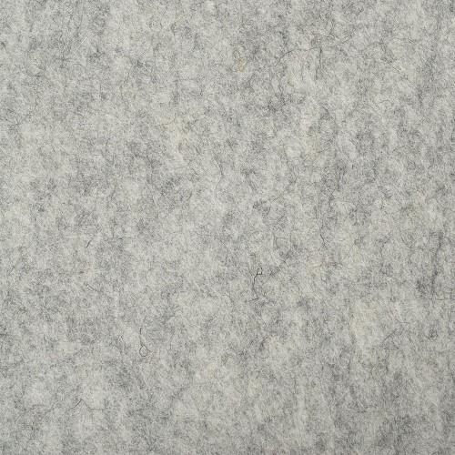 "100% Wool 12"" Square-Light Grey"