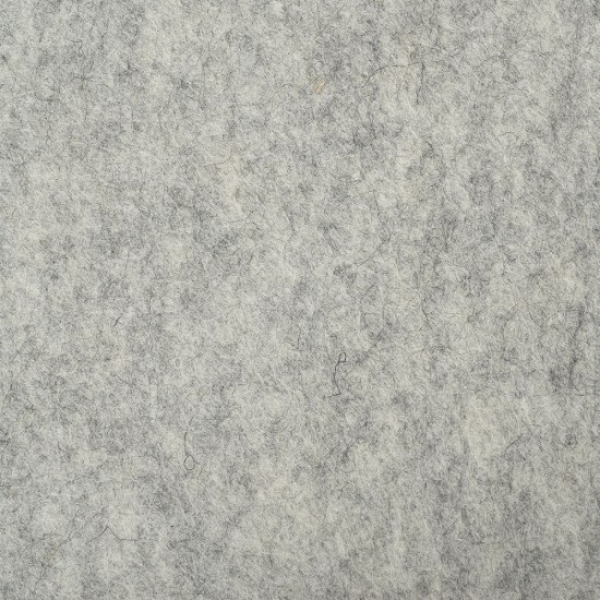 "100% Wool 12"" Square-Light Grey"