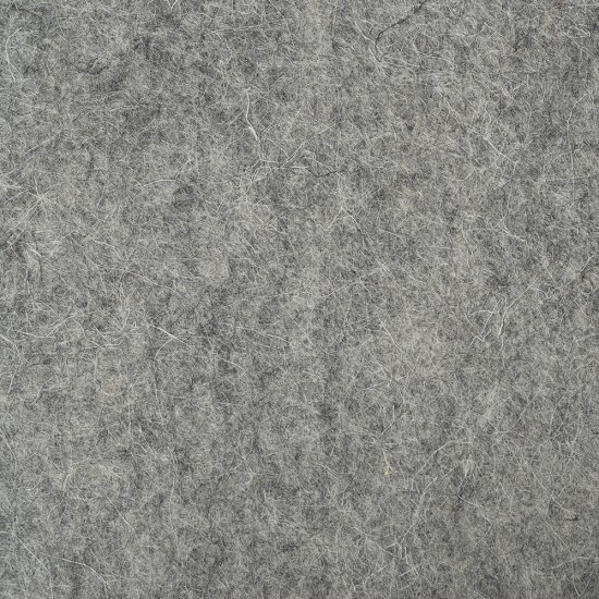 "100% Wool 12"" Square-Medium Grey"