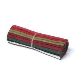 "Wool and Viscose Mix Mini Felt Roll 6"" Square Christmas"
