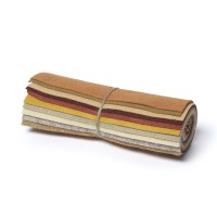 "Wool and Viscose Mix Mini Felt Roll 6"" Square Autumn"