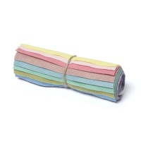 "Wool and Viscose Mix Mini Felt Roll 6"" Square Pastels"