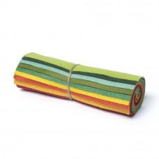 "Wool and Viscose Mix Mini Felt Roll 6"" Square Brights"