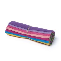 "Wool and Viscose Mix Mini Felt Roll 6"" Square Rainbow"