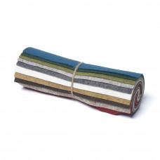 "Wool and Viscose Mix Mini Felt Roll 6"" Square Nature"