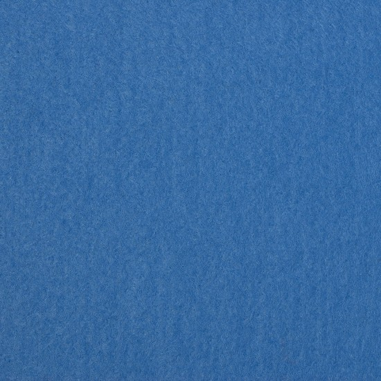 "Wool and Viscose Mix Felt 12"" Square Mid Blue"