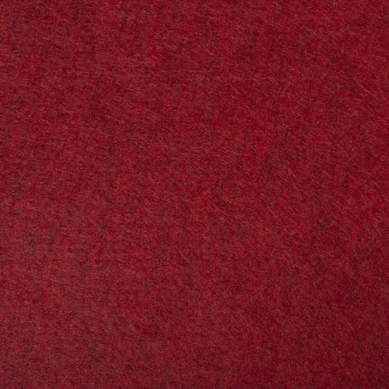 """Wool and Viscose Mix Felt 12"""" Square-Marl Red"""