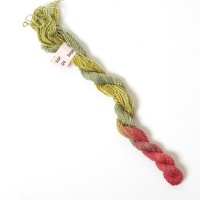 Hand Dyed Spun Silk with Flames Thread-04