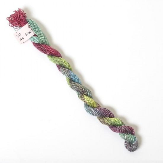 Hand Dyed Spun Silk with Flames Thread-46