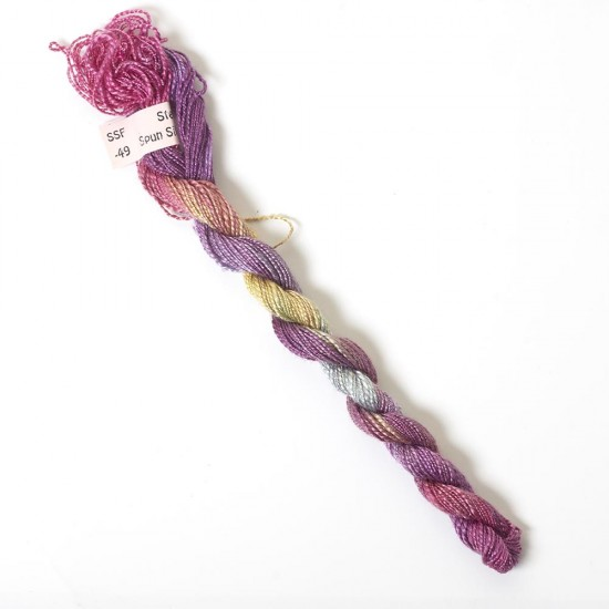 Hand Dyed Spun Silk with Flames Thread-49