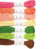 Sublime 100% Egyptian Cotton Embroidery Thread colour pack- Flower Box