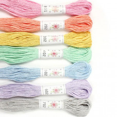 Sublime 100% Egyptian Cotton Embroidery Thread - colour pack-Frosting