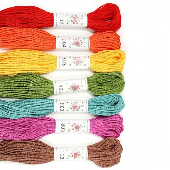 Sublime 100% Egyptian Cotton Embroidery Thread colour pack- Fruit Salad