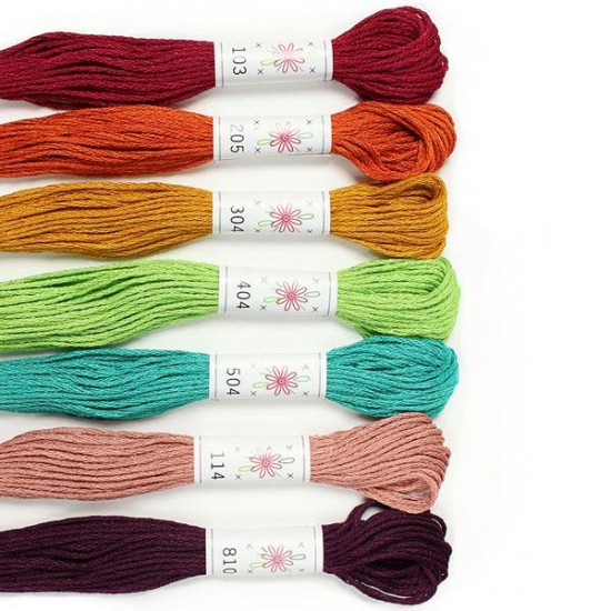 Sublime 100% Egyptian Cotton Embroidery Thread colour pack- Parlour