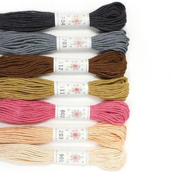 Sublime 100% Egyptian Cotton Embroidery Thread colour pack- Portrait