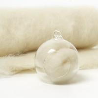 Carded Scandinavian wool 10 Grams -Cream 07